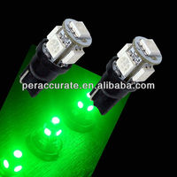 10 Piece 5SMD 5050 T10 194 168 W5W Green LED light for motorcycle led t10 5050 12V