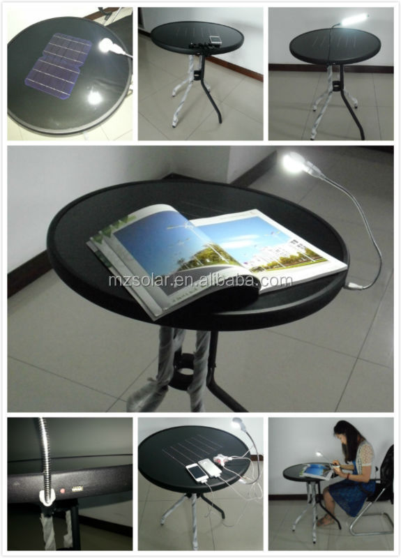 outdoor table for mobile phone,MP4,MP3,IPAD charging solar table