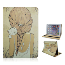 2017 New Girl Smart stand flip Tablet case For iPad mini 2 3 4 Air 1 Pro 9.7 12.9