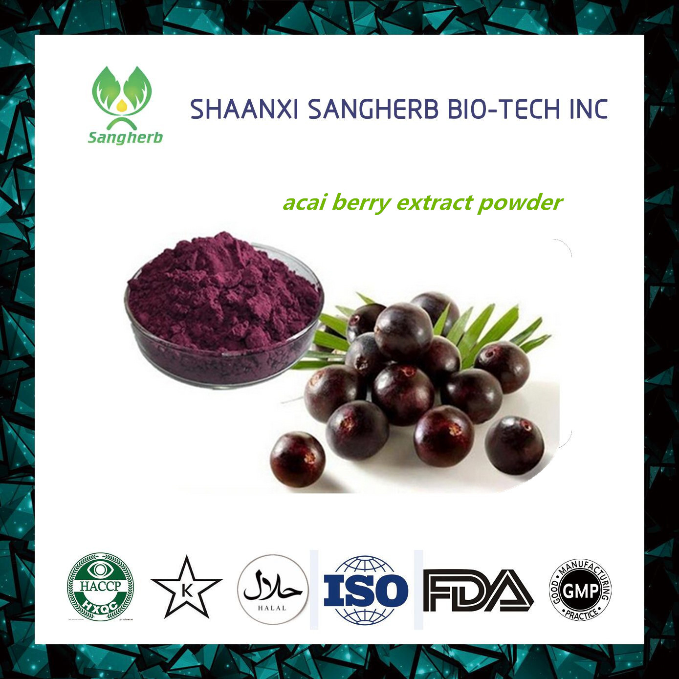 Hot sale factory direct price free sample brazilian acai berry extract powder With ISO9001 certificates