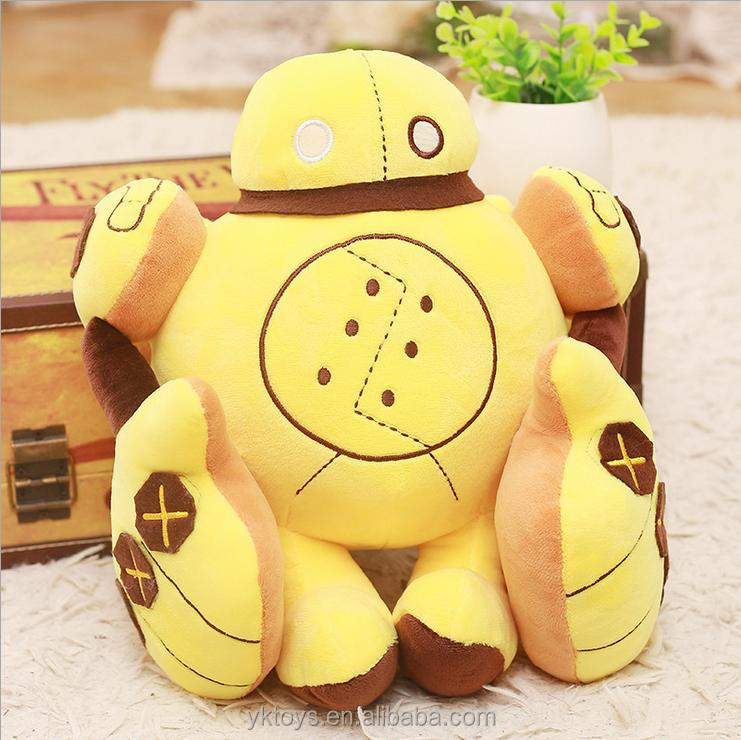 Yellow doll plush game toy for boys