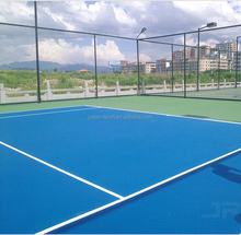 EPDM RUBBERIZED FLOOR and ACRYLIC COLOR COATING for Multipurpose Sports Court (basketball, volleyball, handball, netball, soccer