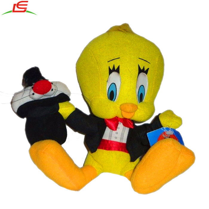Looney Tunes Tweety Magician Sylvester Hat Plush Soft Toy Stuffed Animal