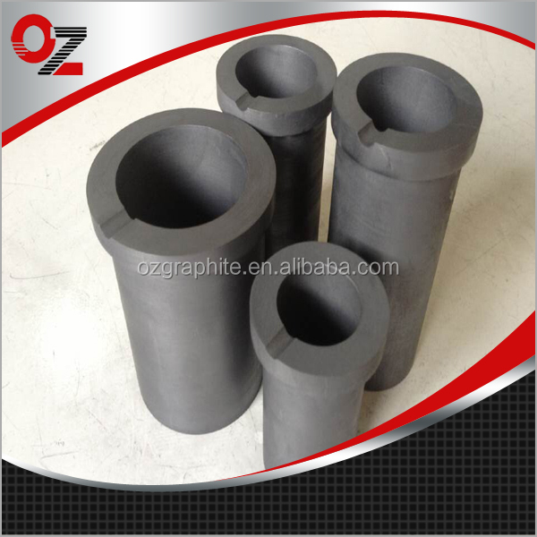 Graphite carbon crucible for melting gold