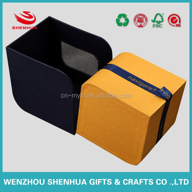 paper packaging box with clean and trasparent window for jewelry watch