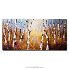 Home Decor Tree Landscape Handmade Oil Painting on Canvas