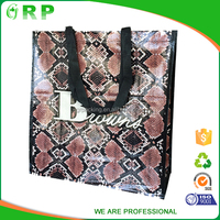 Fashion python design water proof cheap price pp woven bag for 25kg 50kg rice packing