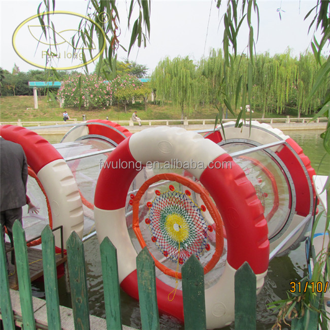 Deep water use floating water wheel for sale