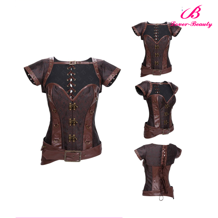 Retro fashion underbust steampunk busty sexy corset