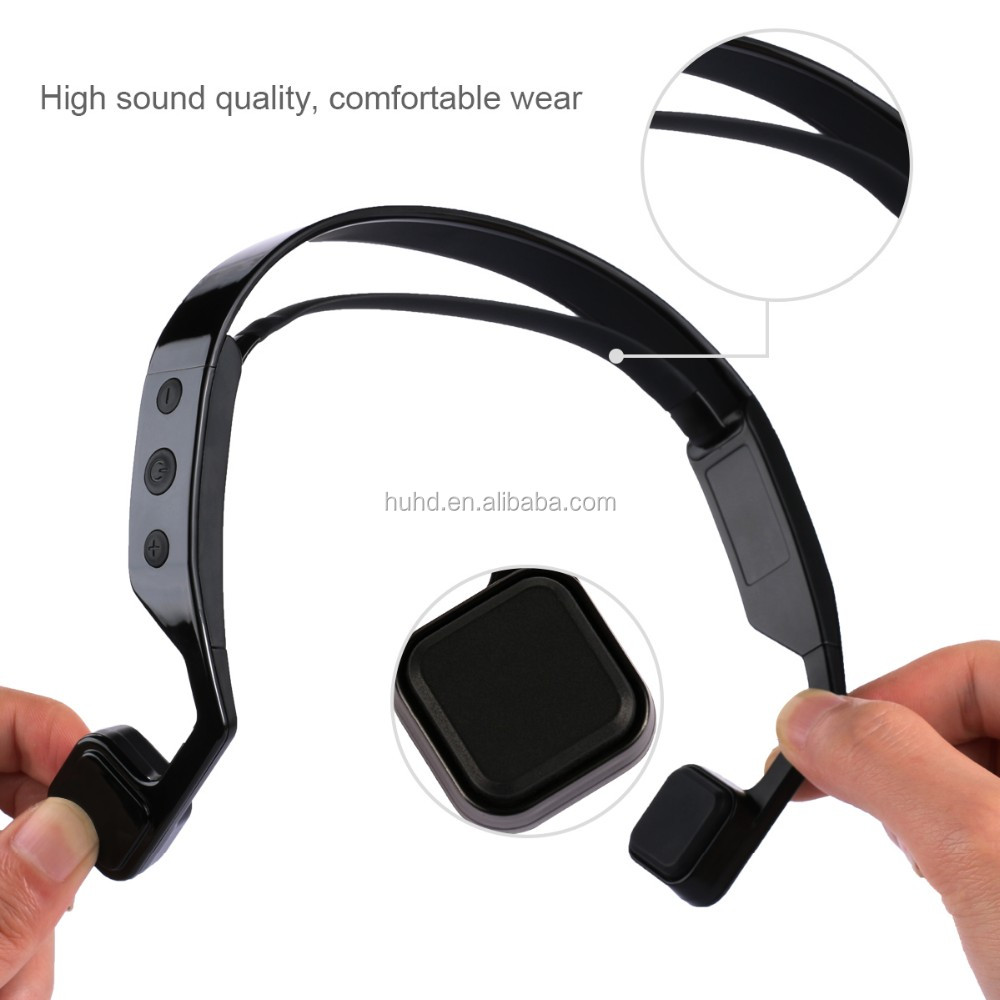 Hot sell blue-tooth sweatproof wireless bone conduction headset neckband sport wireless mic bone conduction earphone