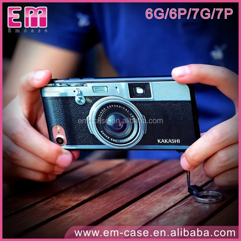 2 In 1 Retro Painting Camera Creative Game Consoles PC Phone Case For iPhone6 6plus 7 7plus