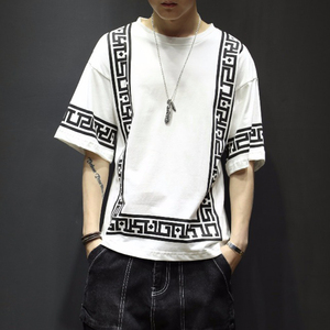 Summer 2019 Fashions Funny Street wear White Cotton Men T shirt Half Sleeve Hip Hop T-Shirt Men 5XL
