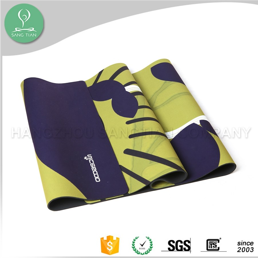 Friendly eco anti slip extra large sublimation black natural rubber yoga mat for fitness