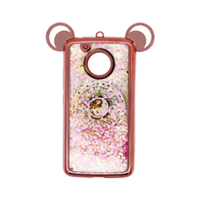 2017 Trending products Electroplating 2 in1 TPU PC combo quicksand style phone accessory for MOTO G5