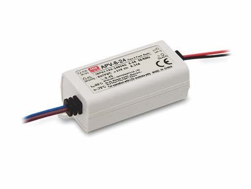 Meanwell 8W AC/DC Constant Voltage Single Output LED Power Supply APV-8 Series APV-8-5 5V