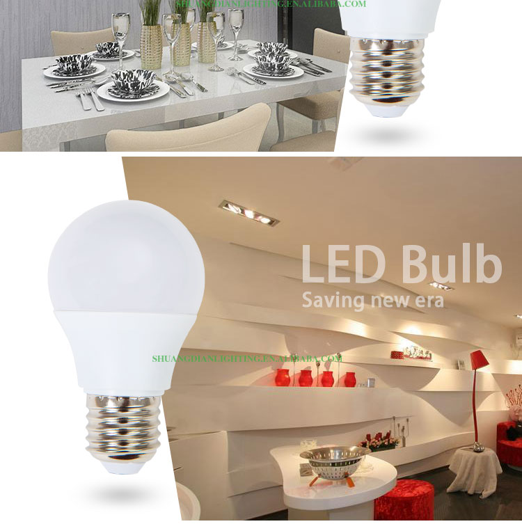2016 new instruction of aluminum led bulb 7w
