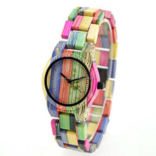 fashion new design colorful custom dial bamboo watch oem from china manufacturer