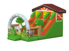 2017 Farm barn giant inflatable double lane slide for sale