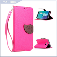 Classic Leaves Leather Flip Phone Case Cover For Samsung s6,Wallet Style Leather Case Cover For Lenovo Phab Plus