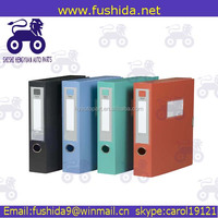 Stationery OEM factory box file a4 size expanding file spring file
