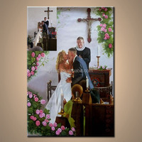 Wholesale Handmade Wedding Portrait Photo Painting