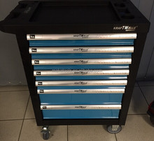 Swiss Kraft professional hand tools set in trolley cabinet