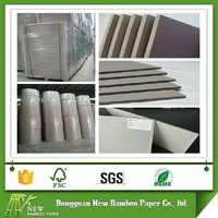 2mm thick reycled paper compressed grey cardboard sheets