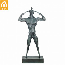 ODM Happy Father and Son Family Series Sculpture En Bronze