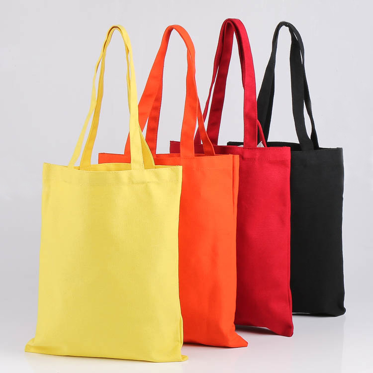 2017 recycled promotion cotton plain tote bag / custom cotton yoga mat canvas bags