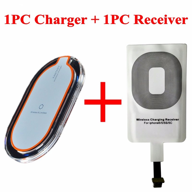 Wireless Charger and Receiver 2 in 1 Sell Well Charging Directly for iphone 5 5c 5s 6