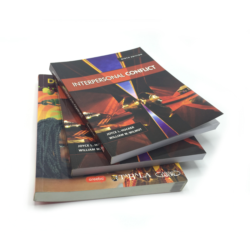 Printing softcover books international edition textbooks