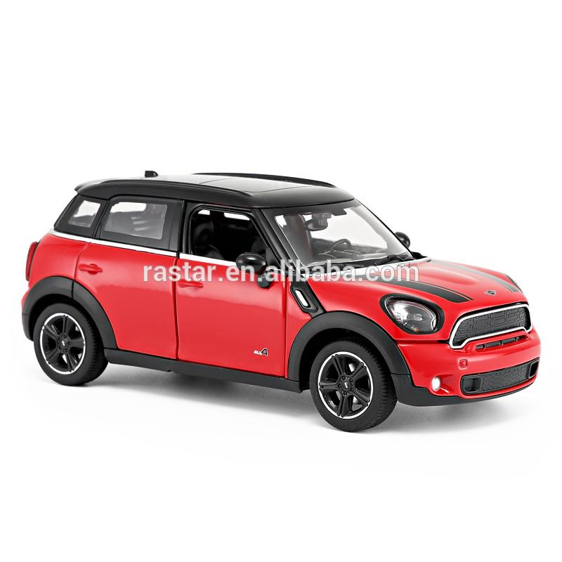 RASTAR 1:24 alloy free wheel open door mini cooper model car toys