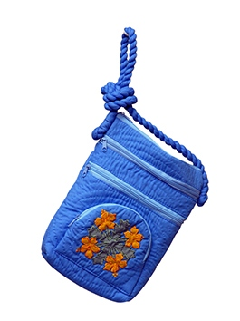 Shoulder Purse with Orange Flowers 120
