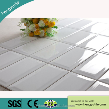 export to Argentina 3x6 waterproof white with bevel inner wall kitchen wall bathroom tile