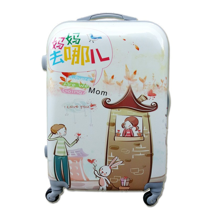 China cabin size trolley bag with carton printing