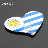 Uruguay Punta Del Este Souvenirs Car Shaped Rubber Magnet Stainless Steel Metal Custom Printing Souvenir Fridge Magnet