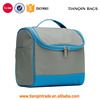 Man Woman Waterproof Double Zipper Cosmetic Bag Beauty Case Wash Bag With Wall Hook(Gray,Blue)