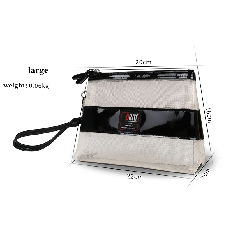 High quality transparent wholesale clear nylon cosmetic bags