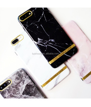 Simple marble for iPhone X 8G 7G 6G 5G creative couple pattern hard PC cell phone case Handsome boy must have