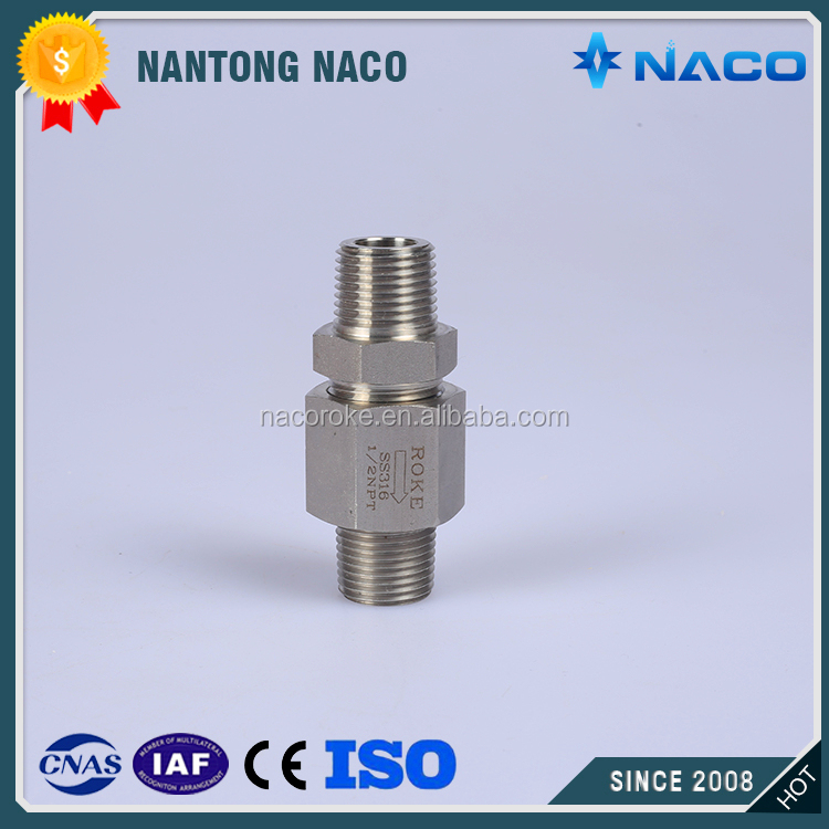 Hot Sale Sanitary Stainless Steel G Thread Male Check Valve No Return Valve