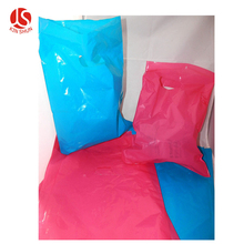 100 pack 9 x 12 Hot Pink and Teal Blue Glossy Retail Merchandise bags Low Density Plastic Merchandise Gift Die Cut Bags