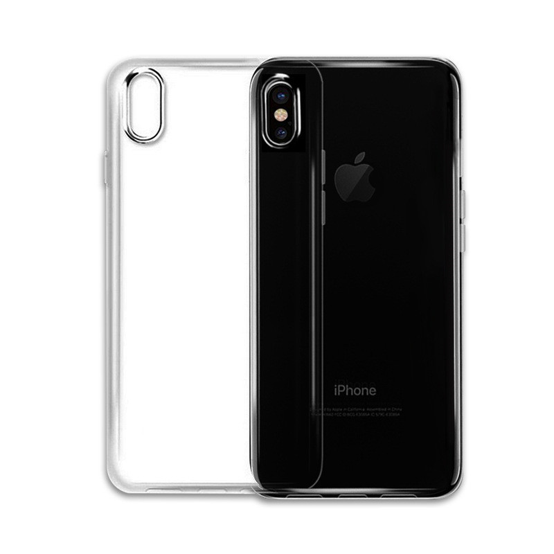 universal silicone mobile accessories back cover phone case for iPhone X china mobile phone case
