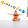 Planets in the Space Peel and Stick Nursery Kids Wall Decals Stickers