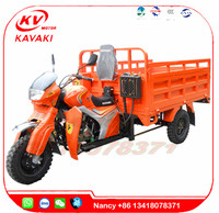 Chinese kavaki 250cc motorcycle engine Hot Sale Gas Motor Tricycle /tricycles motorized used the sale
