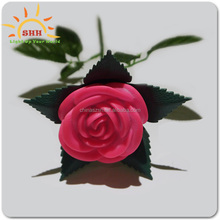 Wholesale magic led light up plastic artificial fake flower single packing rose