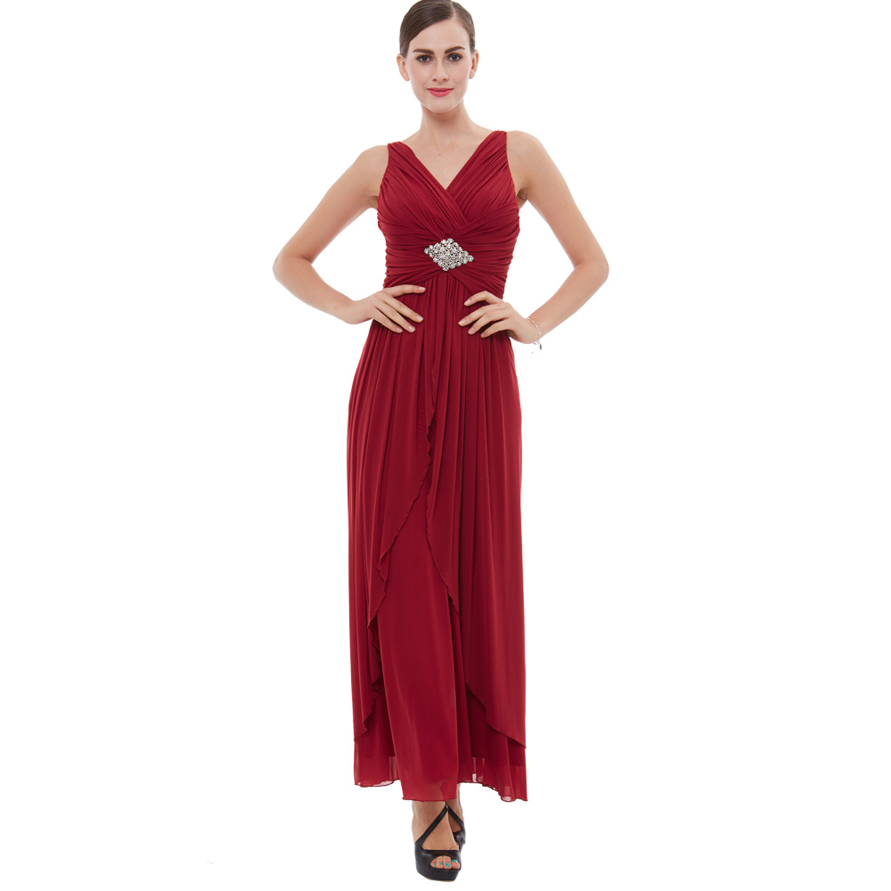 Elegant High Quality Sleeveless Backless Evening Party Ball Wedding Guest Dress