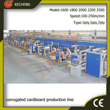 steam heating 150m/min 5 layer corrugated cardboard production line