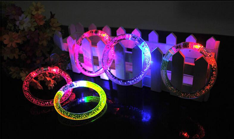 Logo accept hello kitty bracelet, bubble bracelet, Santa Claus multicolor led bracelets