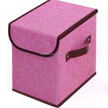 Collapsible non woven fabric clothing storage box with Lid