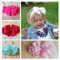 Kids Girl Baby Toddler Lace Big Butterfly Knot Flower Headband Hair Band Headwear